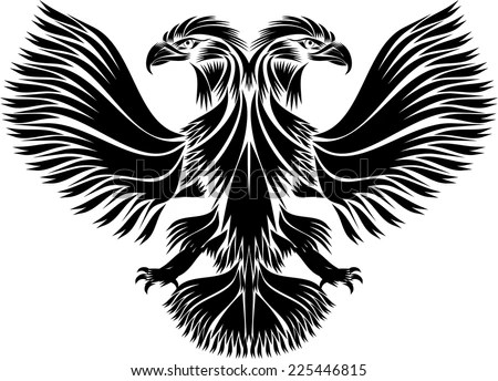 Russian Doubleheaded Eagle Stock Vector (Royalty Free