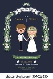Wedding Cartoon Images : wedding, cartoon, images, Cartoon, Wedding, Invitation, Stock, Images, Shutterstock