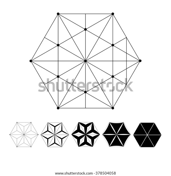 Sacred Geometry Intersection Geometric Lines Clear Stock