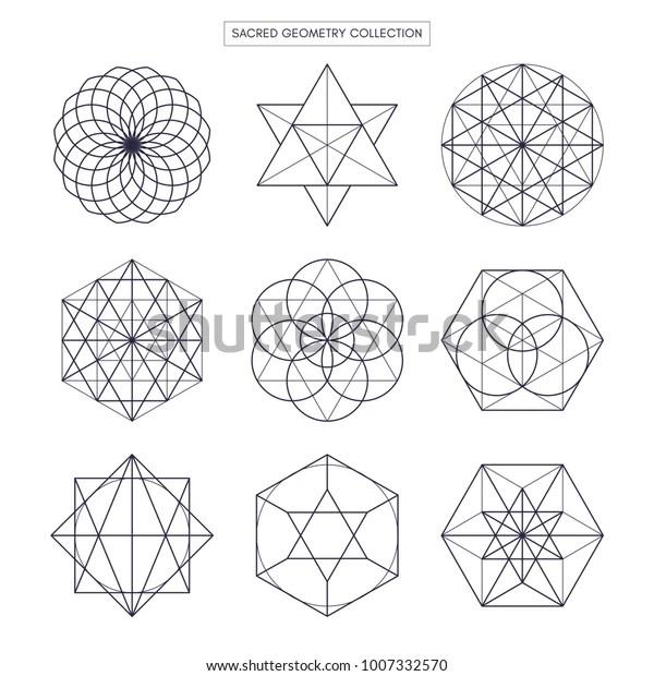 Sacred Geometry Vector Design Elements Original Stock