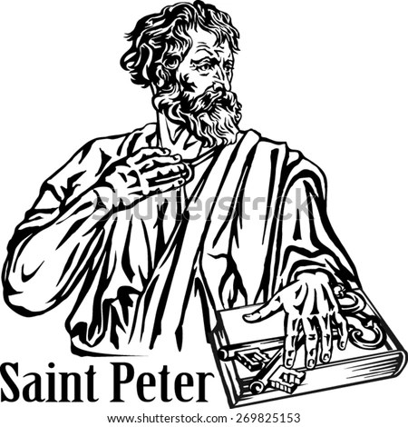 Saint Peter Apostle Preacher Martyr Stock Vector (Royalty