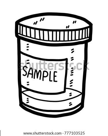 Sample Box Cartoon Vector Illustration Black Stock Vector