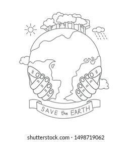 Save Earth Poster for Kids Stock Illustrations, Images