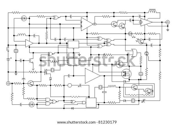 Diagramm Der Elektronischen Verkabelung