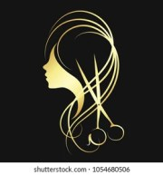 hair salon logo stock