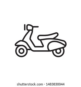 Motorcycle Outline Images, Stock Photos & Vectors