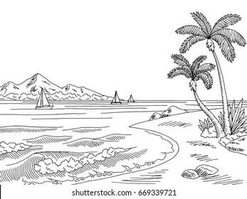 black and white landscape Images, Stock Photos & Vectors