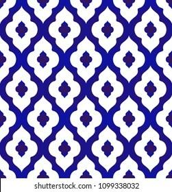https www shutterstock com image vector seamless islamic pattern blue white modern 1099338032