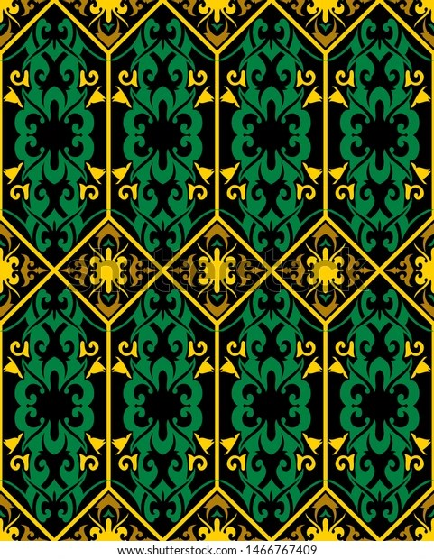 Background Motif Dayak : background, motif, dayak, Seamless, Patern, Dayak, Ethnic, Patterntraditional, Indonesian, Stock, Vector, (Royalty, Free), 1466767409