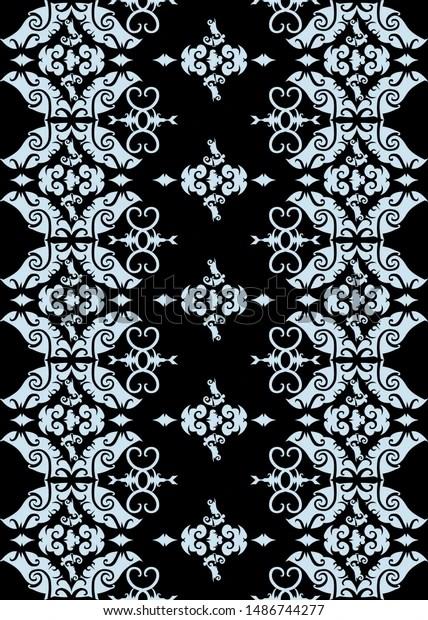 Vector Motif Batik : vector, motif, batik, Seamless, Pattern, Borneo, Batik, Style, Traditional, Stock, Vector, (Royalty, Free), 1486744277