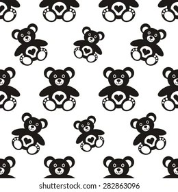Pattern With Teddy Bear Images, Stock Photos & Vectors