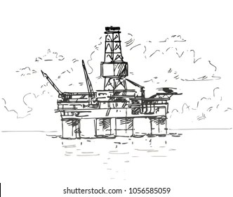 Offshore Oil Platform Images, Stock Photos & Vectors