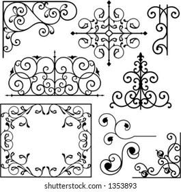 Wrought Iron Design Images, Stock Photos & Vectors