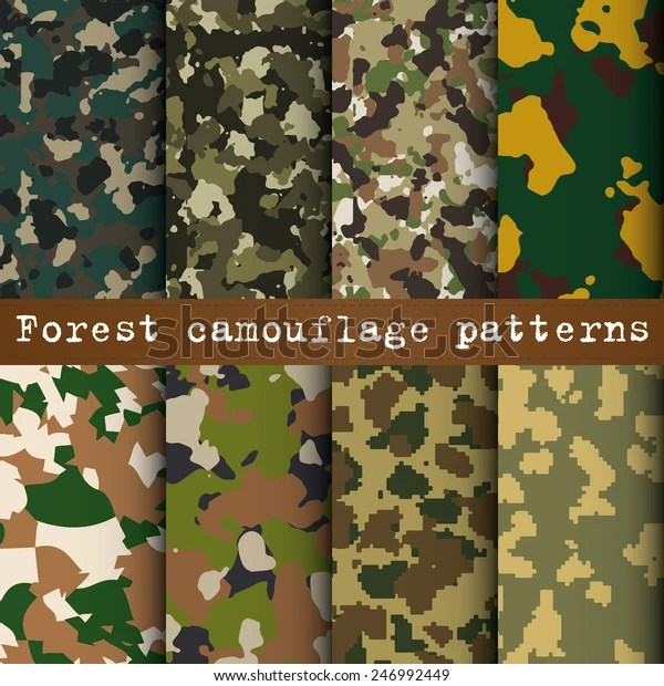 set 8 forest camouflage