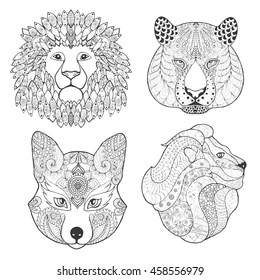 Lion Adult Coloring Pages Stock Vectors, Images & Vector