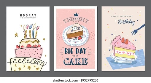 https www shutterstock com image vector set birthday greeting cards beautiful lovely 1932793286