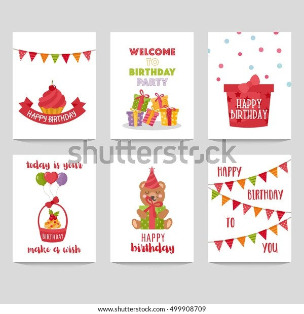 set birthday labels template