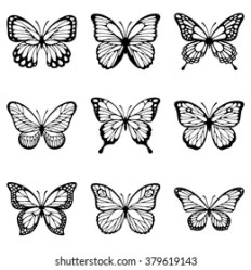 Butterfly Outline Images Stock Photos & Vectors Shutterstock