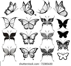Simple Easy Butterfly Tattoo