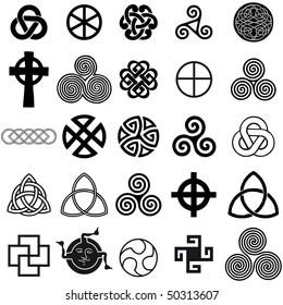celtic symbols images stock