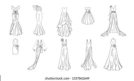 Prom Dress Sketch Images, Stock Photos & Vectors