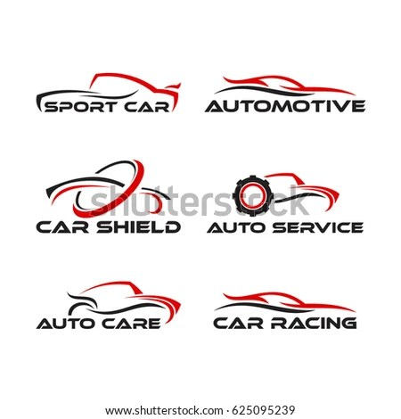 Set F Generic Car Logo Designs Stock Vector (Royalty Free