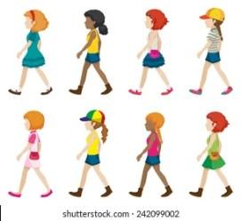 Girl Walking Clipart Images Stock Photos & Vectors Shutterstock