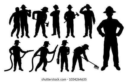 fireman silhouette clip art # 14