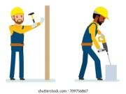 cartoon hammer stock
