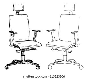 office chair illustration dxracer accessories empty images stock photos vectors shutterstock set chairs isolated on white background sketch different vector