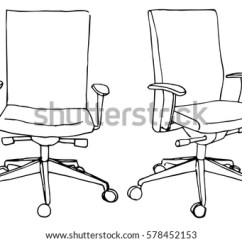 Office Chair Illustration Comfortable Dining Chairs Set Isolated On White Stock Vector Royalty Free Background Sketch Different