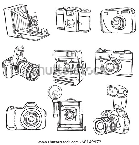 Set Photo Cameras Stock Vector (Royalty Free) 68149972