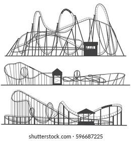 Fairground Silhouette Stock Illustrations, Images