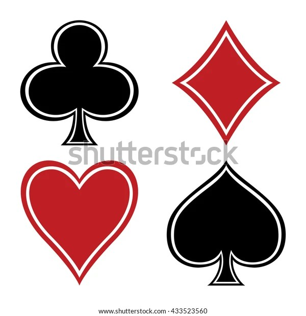 Set Suits Playing Cards Club Diamond Stock Vector Royalty Free 433523560