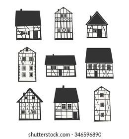 Half-timbered Stock Vectors, Images & Vector Art