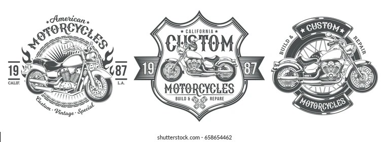 Motorcycle Badges For Classic Bikes