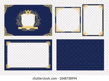 https www shutterstock com image vector set vector picture frame dark navy 1048738994