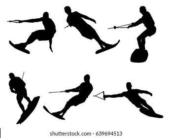 Water Skiing Stock Illustrations, Images & Vectors