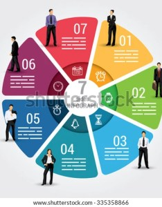 Seven sides infographic template  vector chart with options used for web banners also stock royalty rh shutterstock