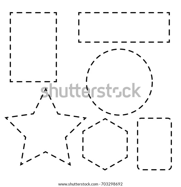 Shape Dotted Line Shape Stock Vector (Royalty Free) 703298692