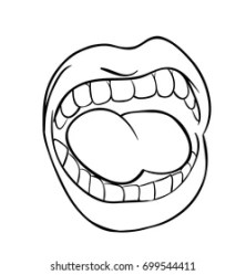 Tongue Clipart Images Stock Photos & Vectors Shutterstock