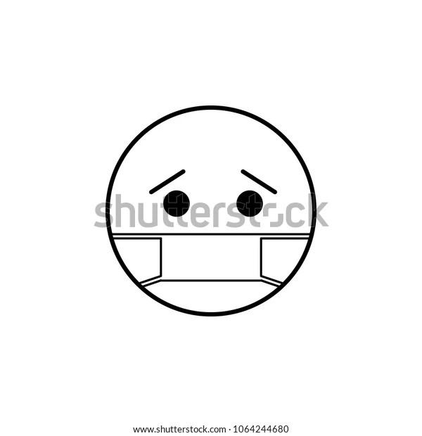 Sick Icon Detailed Set Avatars Professions Stock Vector