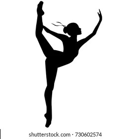 Gymnastics Silhouette Images, Stock Photos & Vectors
