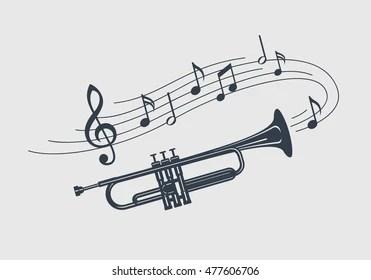 Music Trumpet Note Images, Stock Photos & Vectors