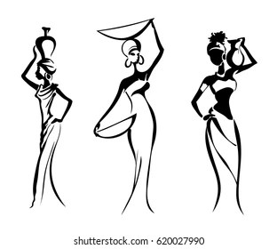 African Woman Silhouette Images, Stock Photos & Vectors