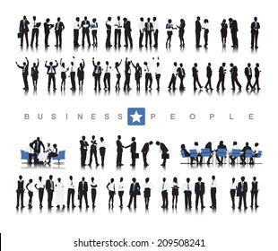 Buissness Meeting Success Stock Illustrations, Images