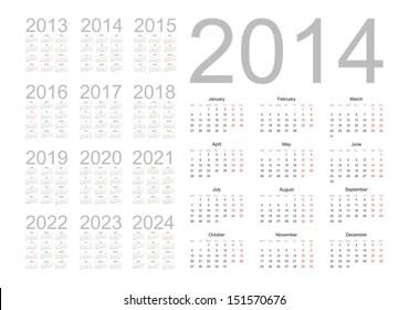 March 2020 Calendar Images, Stock Photos & Vectors