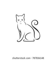 Cat Line Drawing Images Stock Photos & Vectors Shutterstock