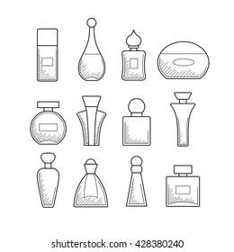 perfume bottle line art Stock Vectors, Images & Vector Art