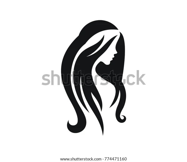 simple silhouette girl head
